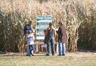 Checking the Corn Maze Riles