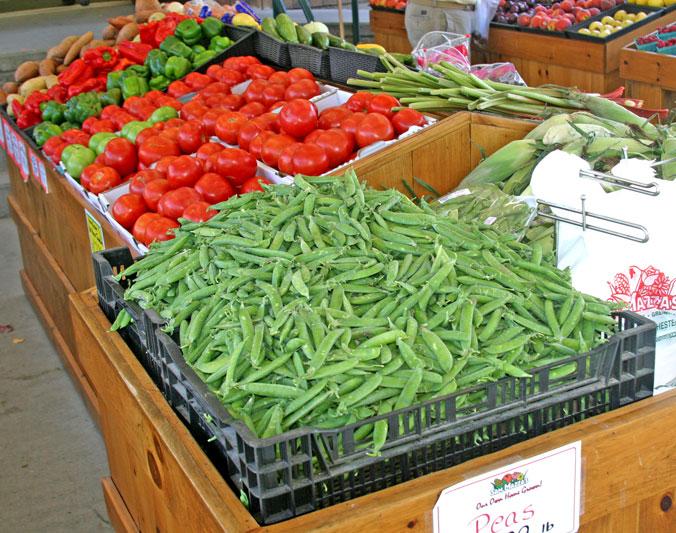 Peas & tomatoes