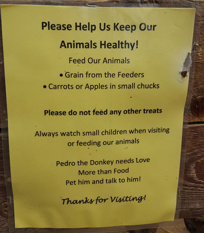 Petting Zoo Rules