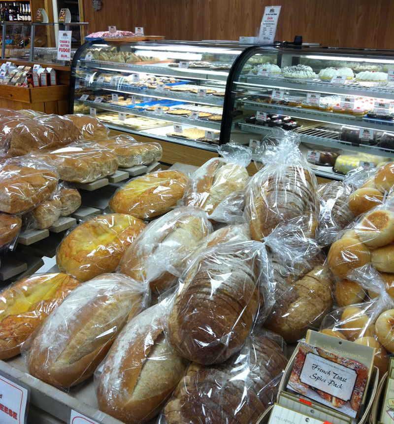 Market with Bread and Cake Displays